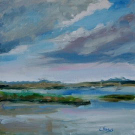 Featured Artists Laine Francis and Craig Gurganus in the Mattie King Davis Art Gallery