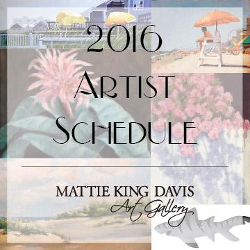 2016 Artist Schedule